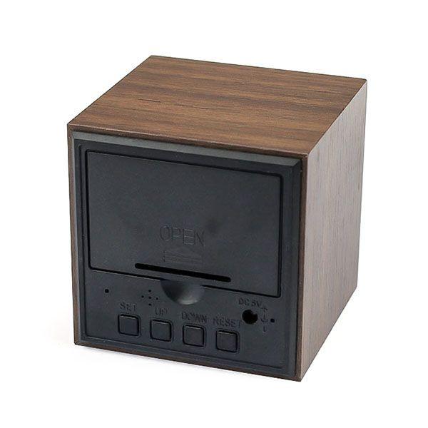 Деревянные часы Wooden Clock VST-869-1 с термометром