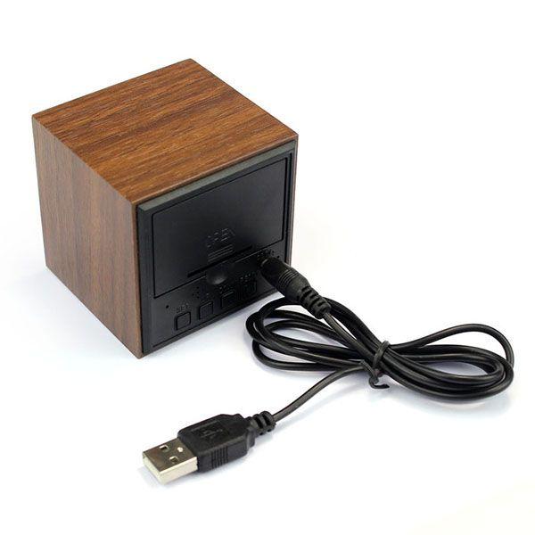Деревянные часы Wooden Clock VST-869-5 с термометром