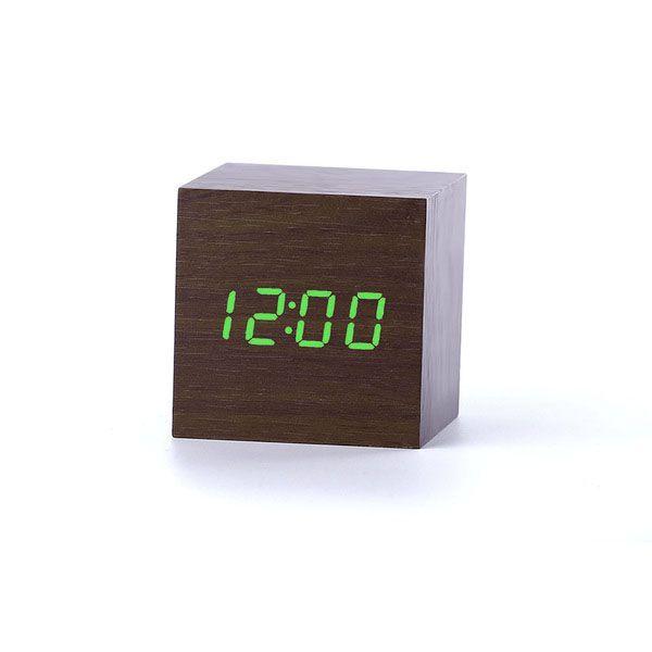 Деревянные часы Wooden Clock VST-869-4 с термометром