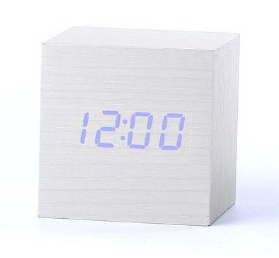 Деревянные часы Wooden Clock VST-869-5 white с термометром