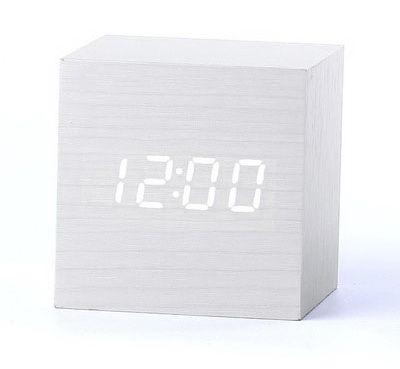 Деревянные часы Wooden Clock VST-869-6 white с термометром