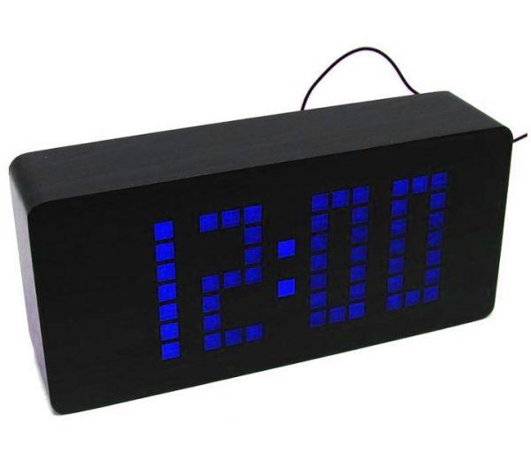 Деревянные часы Wooden Clock VST-871-5 Blue