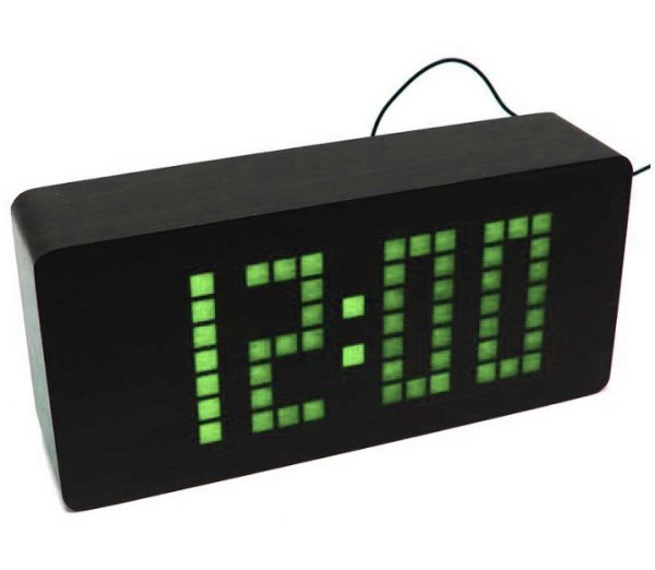 Деревянные часы Wooden Clock VST-871-4 Light green