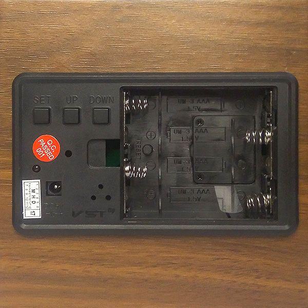Деревянные часы VST-878S-6 в виде подставки для ручек (подставка органайзер) с термометром