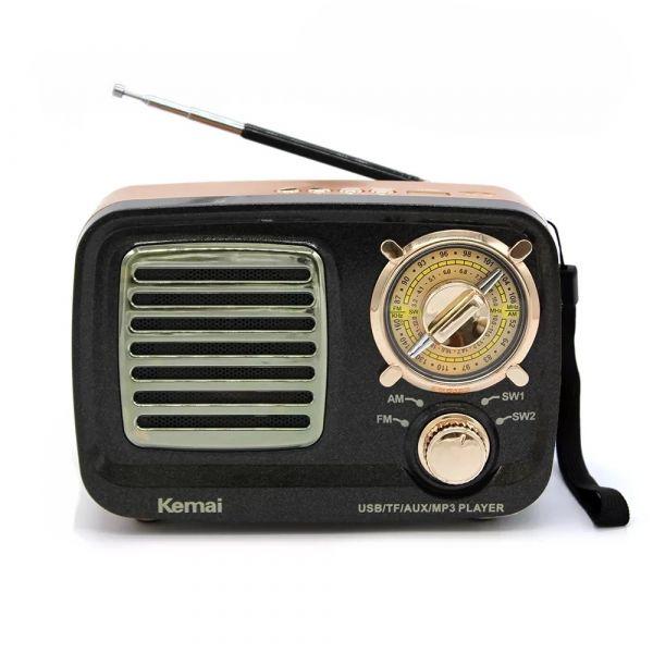 Портативный ретро радиоприемник с АКБ Kemai MD - 309BT