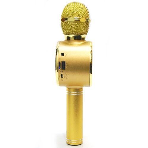 Bluetooth микрофон караоке с динамиками Wster WS-668 Gold