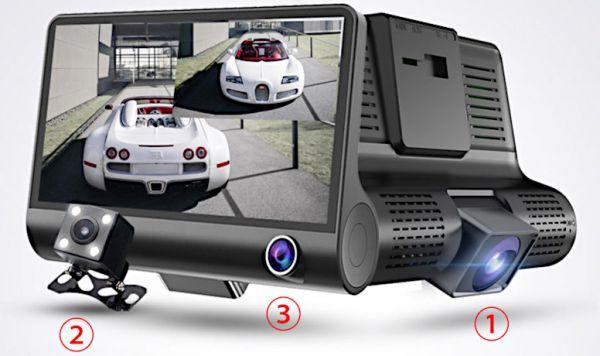 Автомобильный видеорегистратор XPX P9 с 3-мя камерами