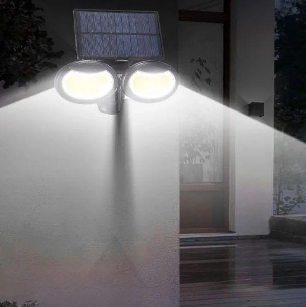 Уличный LED светильник YG-1413 с солнечной батареей и датчиком движения