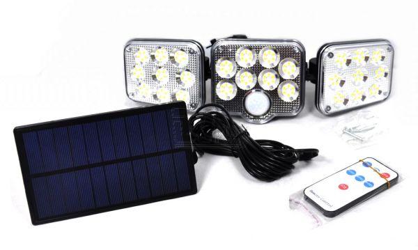 Уличный автономный фонарь-прожектор YG-1690 с солнечной батареей